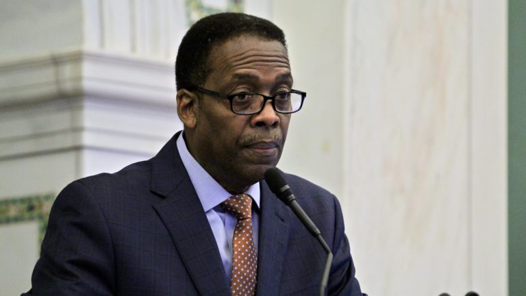 City Council President Darrell Clarke wants to make sure projects getting tax breaks and other subsidies are making enough of an effort to hire city residents. (Emma Lee/WHYY)