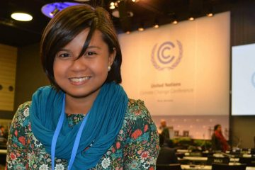Renee Karunungan at the UN climate change negotiations in Bonn
