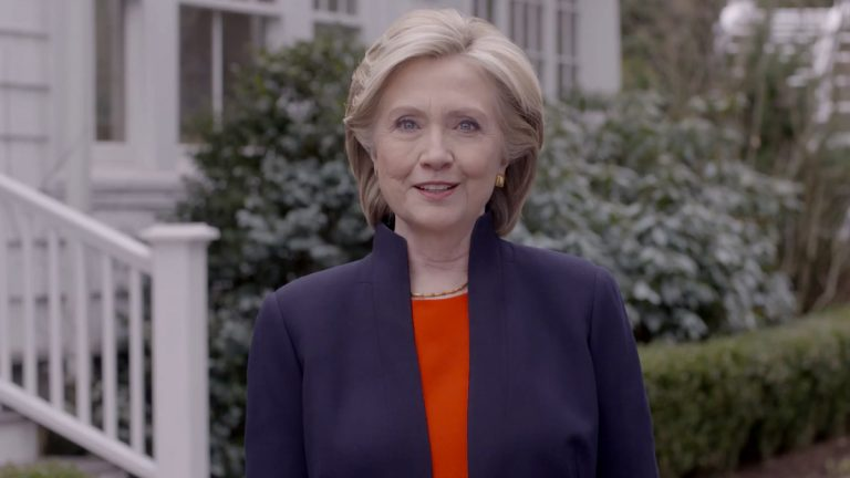 In this image taken from video posted to hillaryclinton.com on Sunday, April 12, 2015, Hillary Rodham Clinton announces her campaign for president. (Hillary For America via AP)