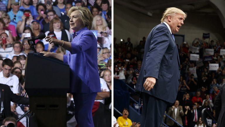 Hillary Clinton camapaigns in August in Scranton