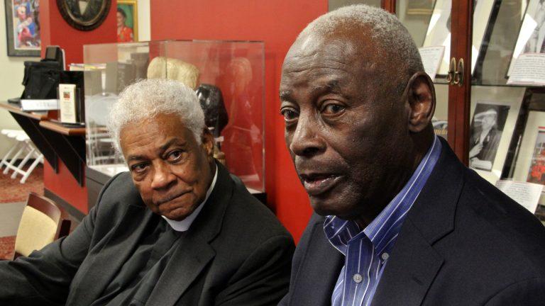 The Rev. Joe Williams (left)