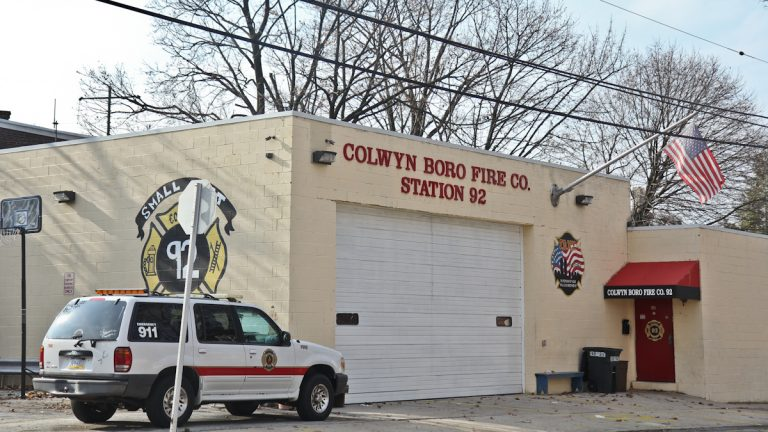 Three top officials of the Colwyn Borough Fire Company are charged with stealing public funds. (Kimberly Paynter/WHYY)