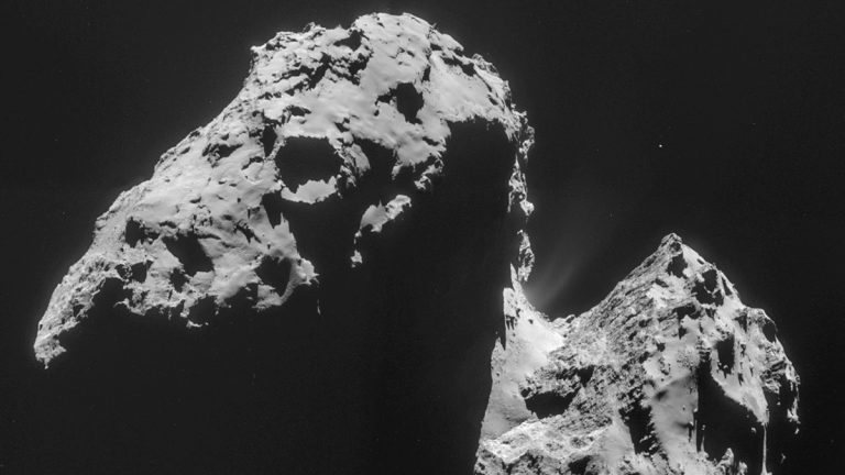 Comet 67P/Churyumov–Gerasimenko confirmed to space scientists that the discovery of the origin of Earth's oceans has yet to be positively identified. (AP Photo/ESA)