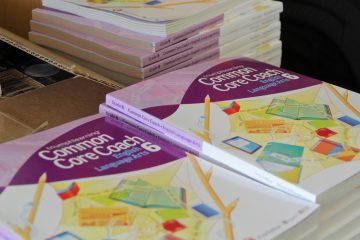 Common Core prep books. (Emma Lee/WHYY)