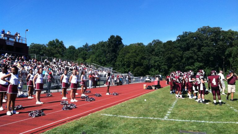 Concord High School begins its home game against Middletown. (Elana Gordon/WHYY)