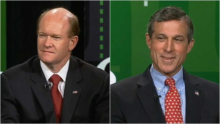Incumbents Chris Coons and John Carney hold comfortable leads in the latest poll. (File/WHYY)