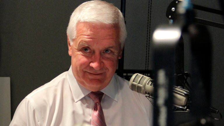 Governor Tom Corbett during an interview at the WHYY studio (Emma Lee/WHYY)
