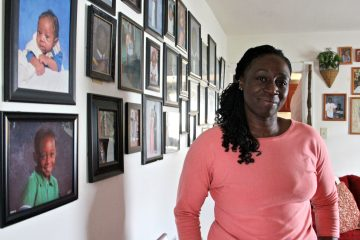 Cortina Faust used housing choice voucher money to move from Coatesville to Downingtown, where she found safer neighborhoods and better schools. (Emma Lee/WHYY)