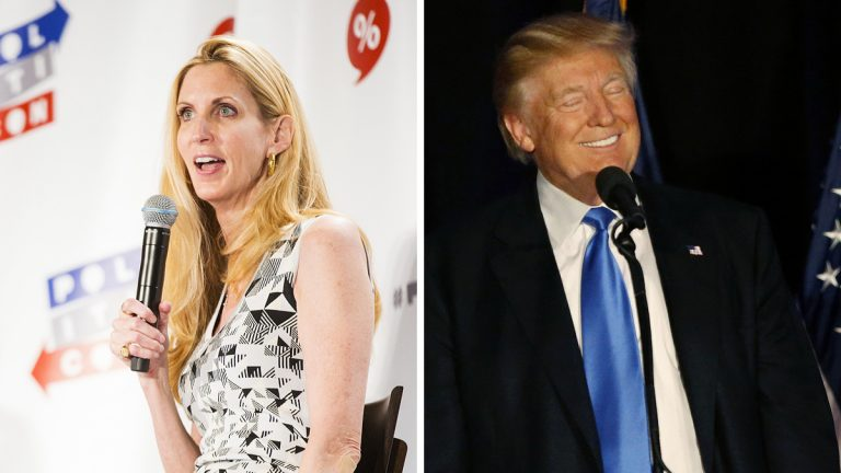 Left: Ann Coulter is shown In June in Pasadena