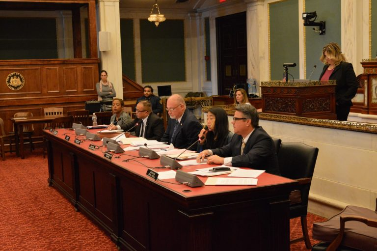 Council members review the charter change (Tom MacDonald/ Newsworks)