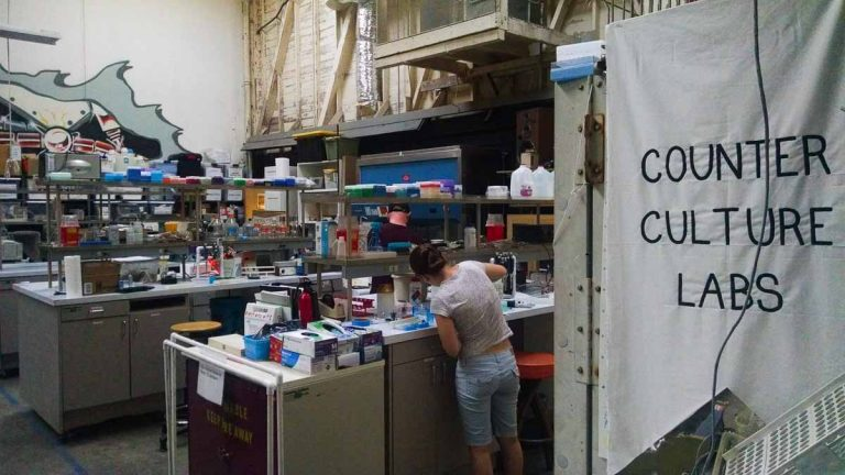 Counter Culture Labs looks like what would happen if your high school science and art classes were held together in the same space. (Andrew Stelzer/for WHYY)