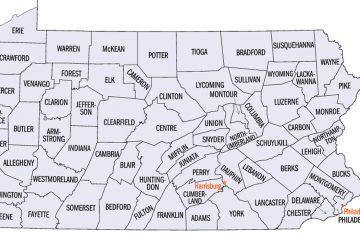 Pa. county map (United States Census Bureau)