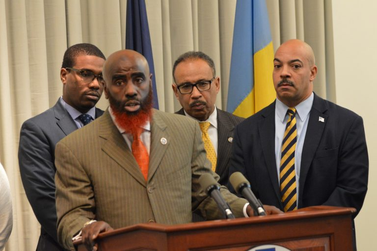 Philadelphia Assistant District Attorney Tariq El Shabazz says district attorneys will come to shooting sites in some cases before the crime-scene technicians for a parallel investigation. (Tom MacDonald/WHYY)