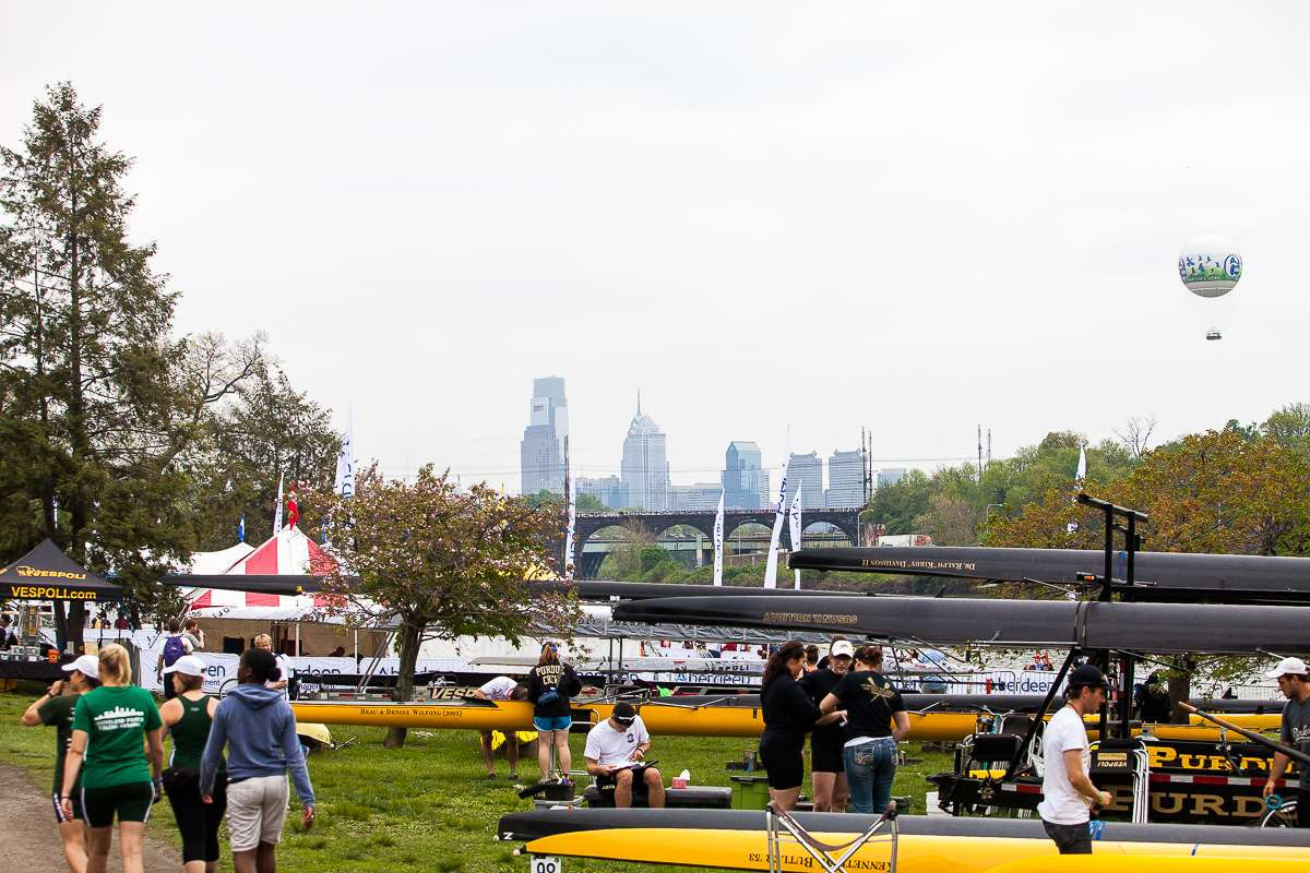 The Schuylkill Navy Regatta is one of two weekend events that will partially cut off access to Kelly Drive this weekend. (Brad Larrison/for NewsWorks, file)