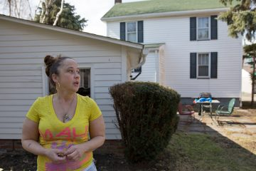 Darcy Smith outside her home in Gallitzin