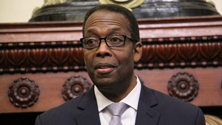 Philadelphia Council President Darrell Clarke has questions about the future of affordable housing in the city. (Emma Lee/WHYY)