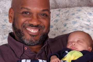 David A. Love is pictured with his daughter Eliana. (Image courtesy of Linda Walters)