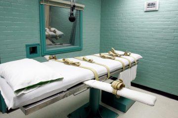 File photo: Death chamber at Texas State Penitentiary, Huntsville.  (Pat Sullivan/AP)