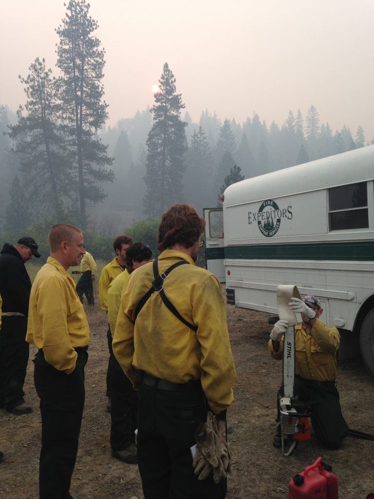 Delaware's wildland fire crew is working to extinguish flames in California. (courtesy: Delaware Forest service)