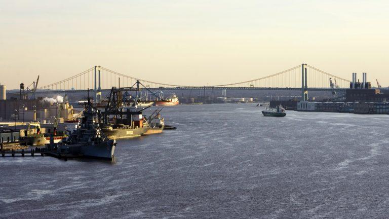 The Delaware River between Camden N.J., left, and Philadelphia, right. (AP Photo/Matt Rourke, file)