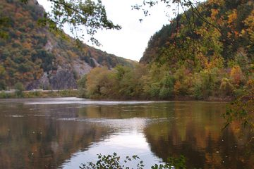 The Delaware Water Gap on the New Jersey side of the Delaware River in Pahaquarry Township. (Warren Westura/AP Photo, file)