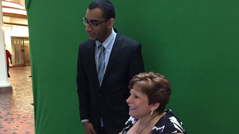 William Del Toro is lobbying for  more funding of a Pennsylvania office that helps people with disabilities find jobs that work for them by providing extras such as transportation, special workspace changes, and job coaching. (Mary Wilson/WHYY)