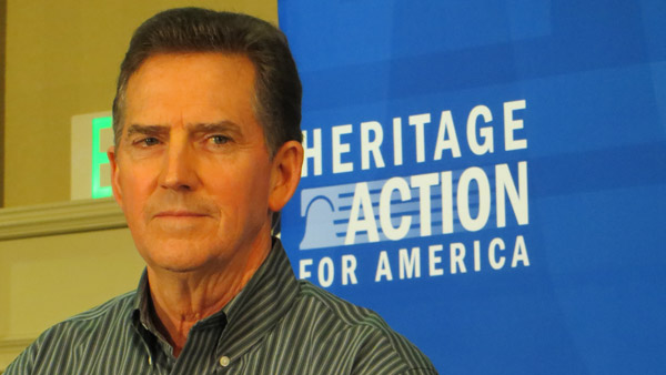 Former South Carolina Senator and Heritage Foundation President Jim DeMint supports a Congressional effort to thwart the Affordable Care Act. (Taunya English/WHYY)