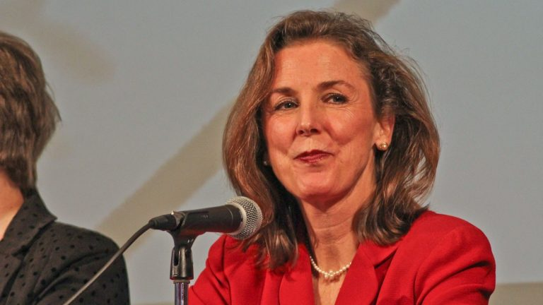 Katie McGinty, who recently stepped down as Pennsylvania Gov. Tom Wolf's chief of staff, may step up as a U.S. Senate candidate.  (Kimberly Paynter/WHYY)