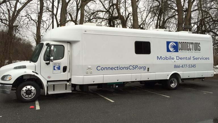 Connections' new mobile dental van (Photo provided by Connections CSP, Inc.)