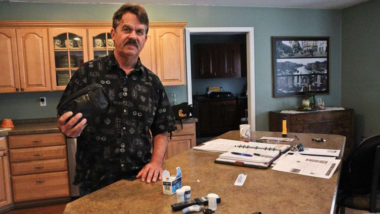 Randy Childress says management at his last job had a hard time understanding that he needed to take time during the work day to have snacks and inject insulin. (Kimberly Paynter/WHYY)