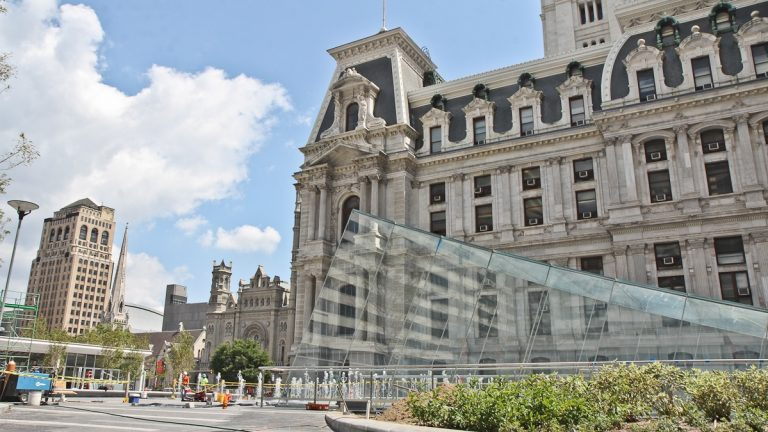 After 2 and-a-half years of construction Dilworth Plaza is reopening this week (Kimberly Paynter/WHYY)