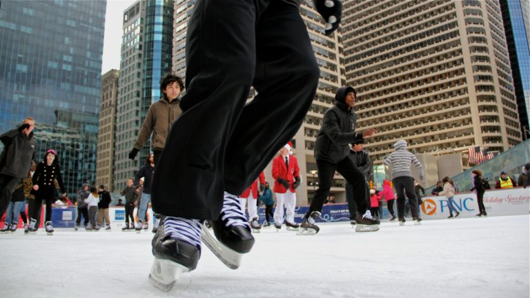 The ice-skating rink at Dilworth Park in Center City will be open seven days a week through Feb. 22. (Emma Lee/WHYY)