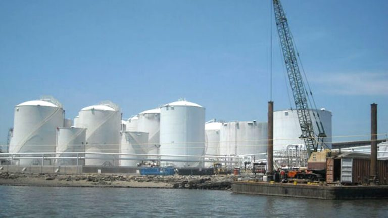 The Kinder Morgan biodiesel terminal in Carteret was one of several oil and gas facilities that flooded during Sandy.
