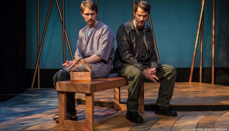 Ahren Potratz & Allen Radway on stage at the Walnut Street Theater. (Courtesy of Daniel Kontz)