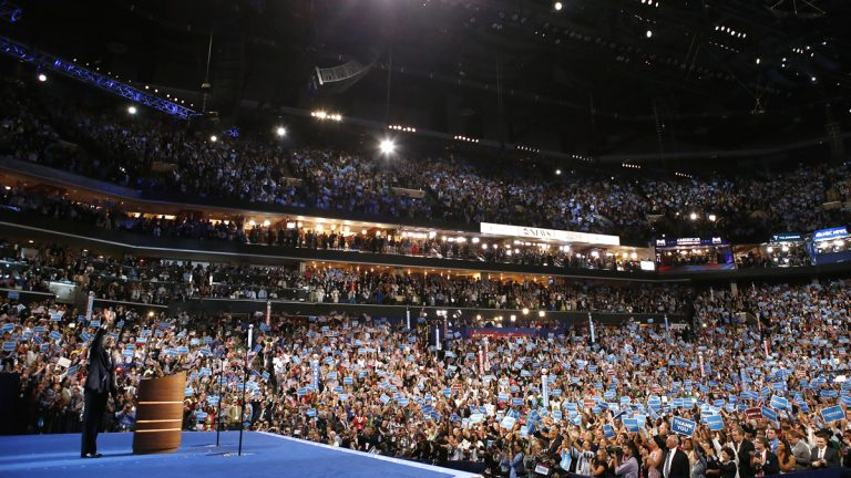 President Barack Obama waves after his speech at the Democratic National Convention in Charlotte, N.C., on Thursday, Sept. 6, 2012. (AP Photo/Jae C. Hong, file)
