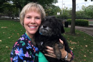 Mindy Cohan and her dog