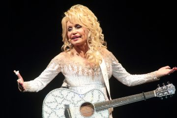 "Dolly Parton performs in concert during her ""Pure & Simple Tour"" at The Mann Center for the Performing Arts on Wednesday"