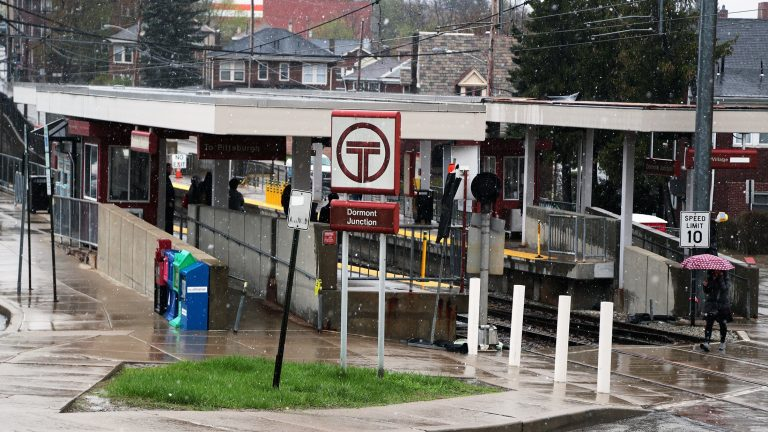 The light rail station in the Pittsburgh suburb of Dormont, one of the 13 TRID study locations (Ryan Loew/WESA)