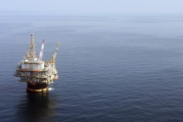 FILE - In this file photo taken Aug. 19, 2008, the Chevron Genesis Oil Rig Platform is seen in the Gulf of Mexico near New Orleans, La. (AP Photo/Mary Altaffer, file)