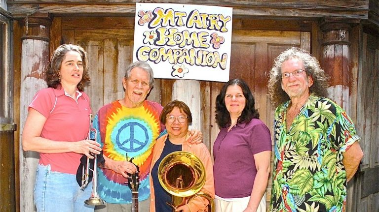 (L to R) Martha Michael, Jim Harris, Lynda Chen, Molly Mahoney and Ed Feldman. (Photo courtesy of Gary Reed)