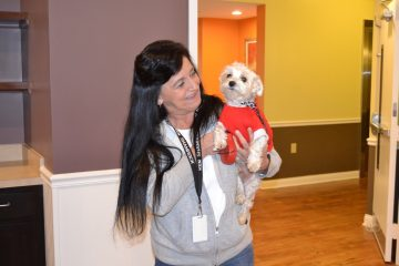 Ramona DiMassimo and Elvis have found their new home thanks to PHARE funding. (Eleanor Klibanoff/WPSU)
