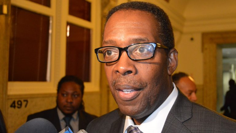 Philadelphia Council President Darrell Clarke(Tom MacDonald/WHYY)