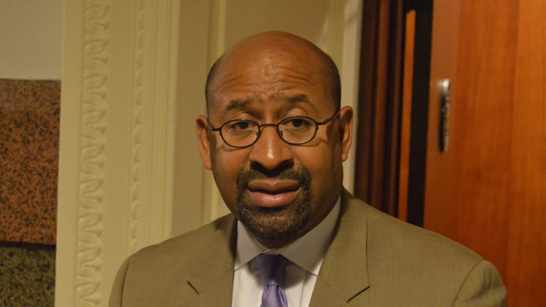 Mayor Michael Nutter issues an apology Monday over the language of performers during the