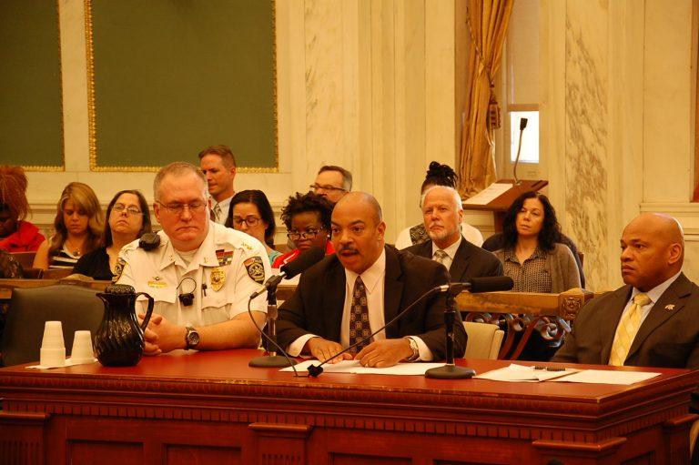 DA Seth Williams testifies at a City Council hearing (Tom MacDonald/WHYY)