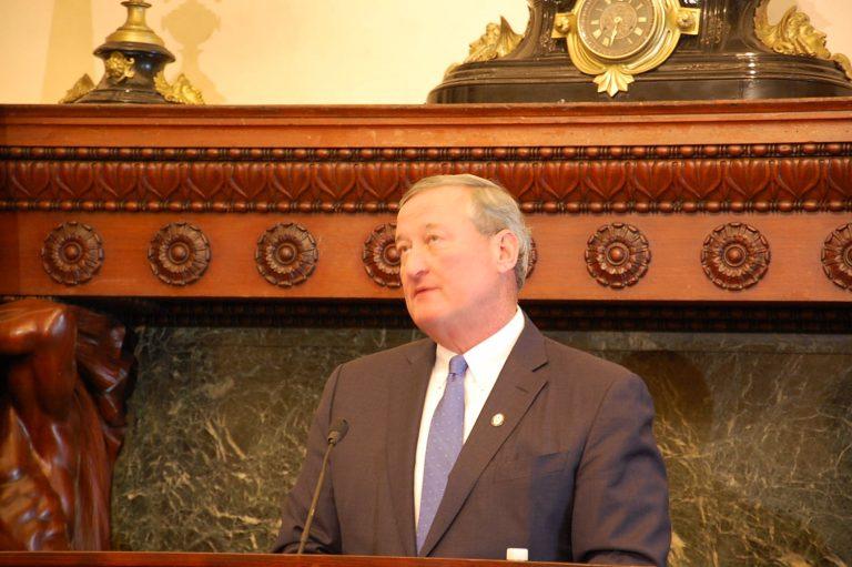 Mayor Kenney at City Hall (Tom MacDonald/WHYY)
