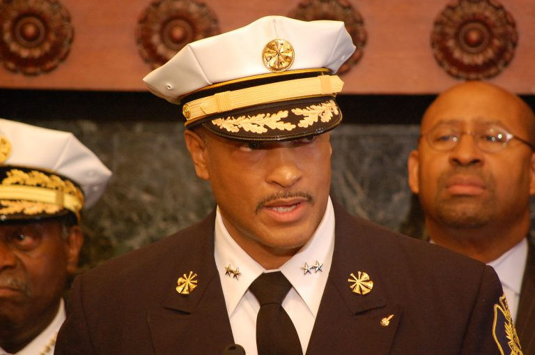 Incoming Fire Commissioner Derrick Sawyer (Tom MacDonald?WHYY)