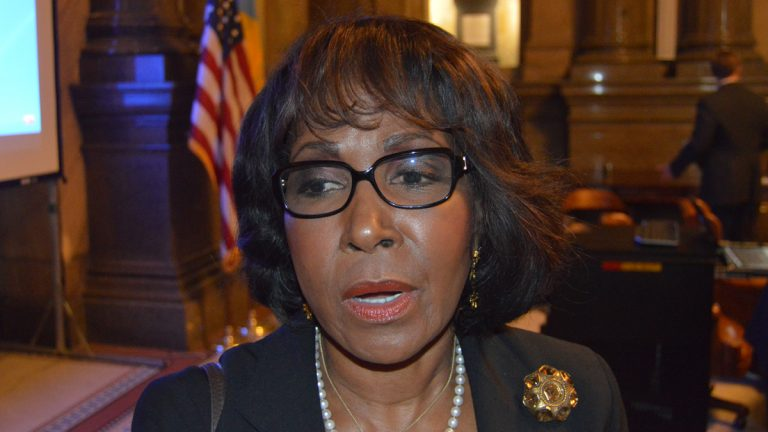 Philadelphia Councilwoman Blondell Reynolds Brown proposes a tax on e-cigarettes to help fund city schools. (Tom MacDonald/WHYY)
