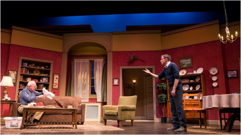 Actors Lenny Wolpe and Fran Vlastnick on stage at Delaware Theater Company (Photo courtesy of DTC)