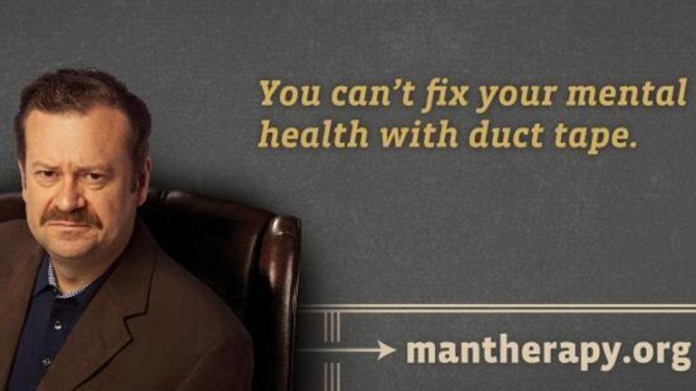 Hello, I'm Dr. Rich Mahogany, welcome to Man Therapy. (Courtesy of mantherapy.org)