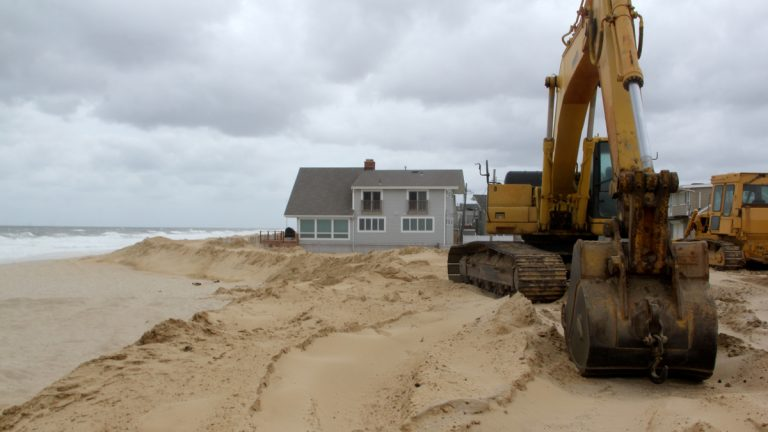 New Jersey lawmakers are wondering why the state was awarded just $15 million -- while New York received more than $200 million -- for flood-protection efforts such as these dunes along Normandy Beach. (Emma Lee/for NewsWorks)